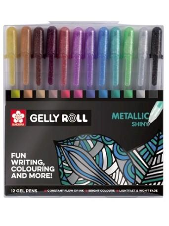 Sakura® Gelly Roll Metallic™ / Gelová pera Metalická - sada 12 ks.