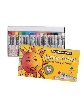 Sakura® Cray-Pas® Olejové pastely Junior Artist™ - sada 16 ks.