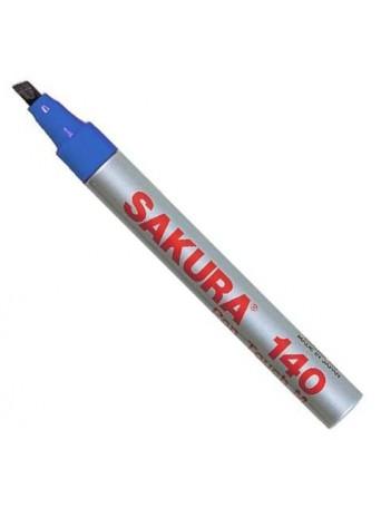 Sakura® 140 popisovač plochý hrot - modrá