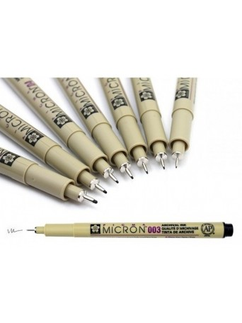 Sakura® pero Pigma Micron® - černá 0.15-0.5 mm, 8 ks
