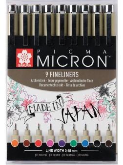 Pigma Micron®05 - Sada 9 barev