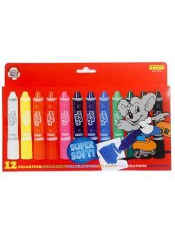 Gelové voskovky - sada 12 barev
