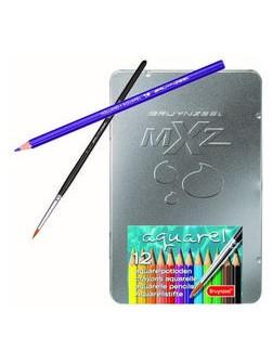 Akvarelové mXz pastelky - sada 12 barev