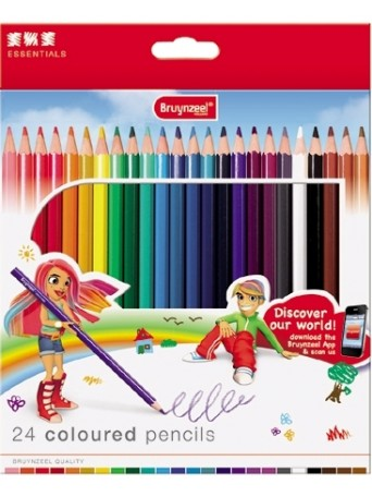 bruynzeel® Pastelky Essentials - sada 24 ks. v kartonu
