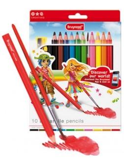 Mega akvarelové pastelky - sada 10 barev