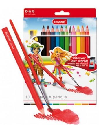 akvarelové pastelky bruynzeel