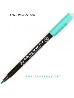 Akvarelové štětcové pero Koi® - Paví Zelená