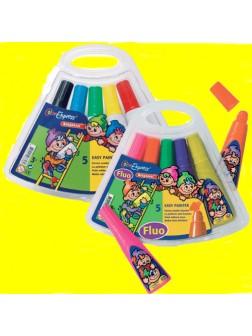 Houbičkové barvy Snadný malíř sada 6 barev