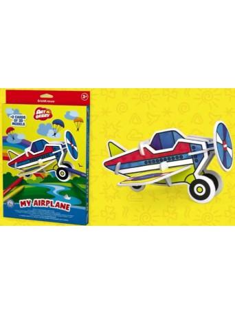 Omalovánky 3D puzzle - letadlo