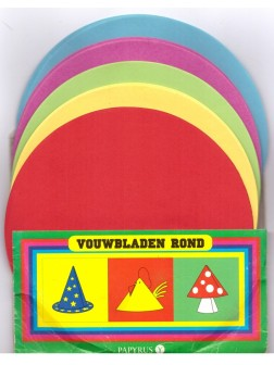Origami barevný papír kulatý 60 gr, Ø 15 cm