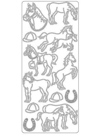 Peel Off´s Original 3D - Nálepky 3D Hnědá - Koně