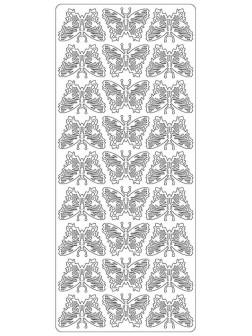 Nálepky 3D různé barvy - Menší motýli