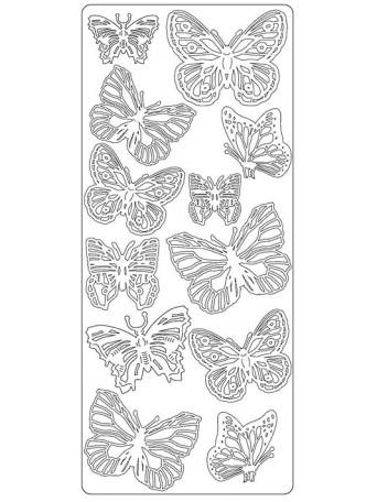 Peel Off´s Original 3D - Nálepky 3D Zlatá - Různí motýli