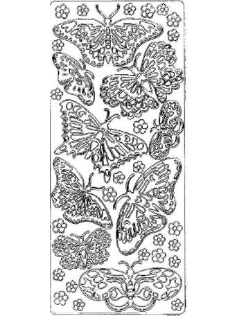 Peel Off´s Original 3D - Nálepky 3D různé barvy - Velcí motýli
