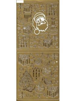 Nálepky 3D Zlatá - Mikuláš mix