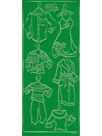 Peel Off´s Original 3D - Nálepky 3D Zelená - Různé oblečení