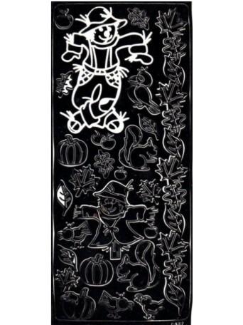 Peel Off´s Original - Nálepka 3D Černá - Strašáci