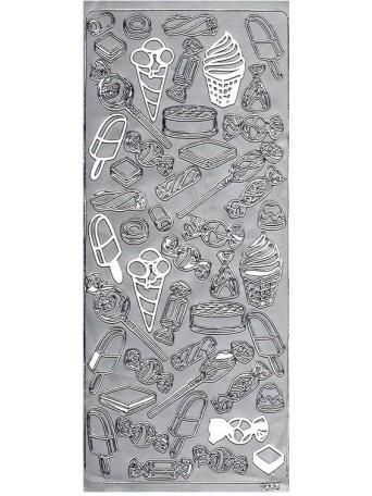 Peel Off´s Original 3D - Nálepky 3D Stříbrná - Cukrárna