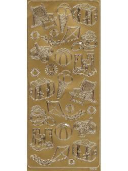 Nálepky 3D Zlatá - Dovolená