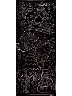 Nálepky 3D Černá - Jezírko