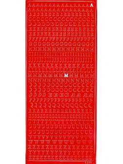 Nálepky 3D Červená - Písmena