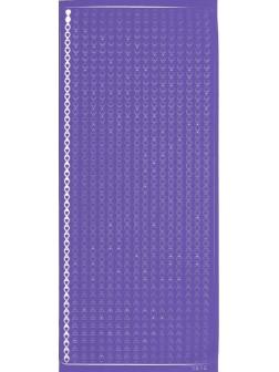 Nálepky 3D Stříbrná - Fialové kapky/proužky