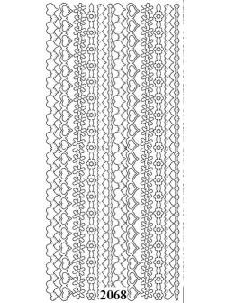 Nálepky 3D Zlatá - Proužky ze Srdíček
