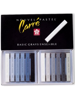 Carré Pastel´ - sada 12 šedých