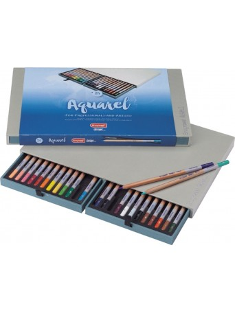 bruynzeel® Pastelky Akvarel Design® - sada 24 ks. se štětcem