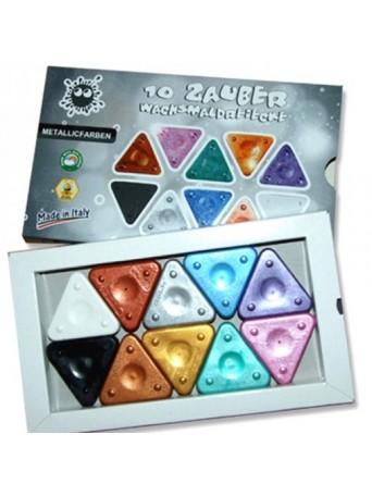 Morocolor® Trojboké voskovky +2 -metalichých 8 ks + bílá a černá různé sady
