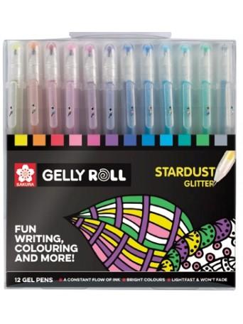 Sakura® Gelly Roll® Stardust™  / Gelové pero Třpytivé - sada 12 ks.