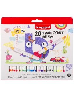 bruynzeel® Dvojité fixy - sada 40 ks. a 20 barev