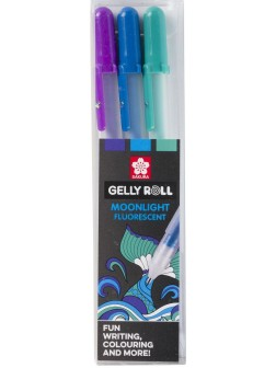 Sakura® Gelly Roll® Moonlight 10™ fluo/pastel Tématická sada Ocean 3 ks.
