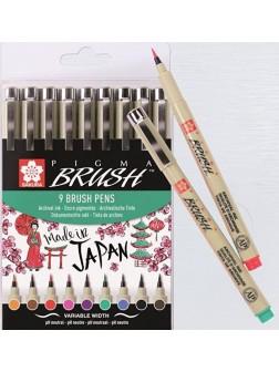 Pigma Brush® - sada 9 barev