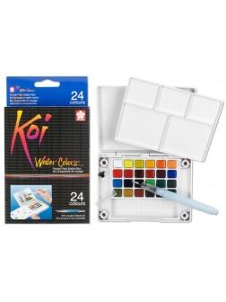 Akvarelové barvy Koi® do plenéru 12