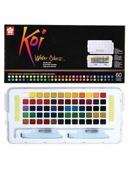 Akvarelové barvy Koi® do plenéru 60