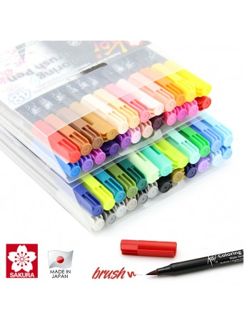 Sakura® Koi® Coloring Brush pen / Štětcové pero Akvarel - sada 48 ks.