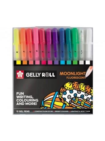 Sakura® Gelly Roll® Gelové pero Moonlight™ fluo/pastel sada 12 ks.