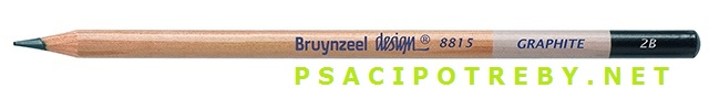 bruynzeel-sakura 8815/2B grafitové tužky Design Graphite 2B, tuha 2,2 mm, jednotlivě