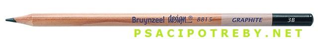 bruynzeel-sakura 8815/3B grafitové tužky Design Graphite 3B, tuha 2,8 mm, jednotlivě