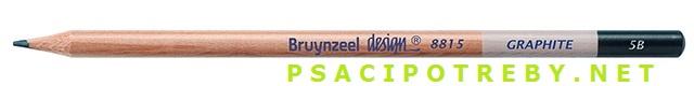 bruynzeel-sakura 8815/5B grafitové tužky Design Graphite 5B, tuha 2,8 mm, jednotlivě
