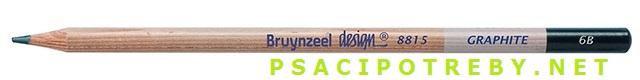 bruynzeel-sakura 8815/6B grafitové tužky Design Graphite 6B, tuha 2,8 mm, jednotlivě