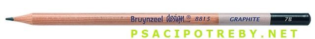 bruynzeel-sakura 8815/7B grafitové tužky Design Graphite 7B, tuha 2,8 mm, jednotlivě