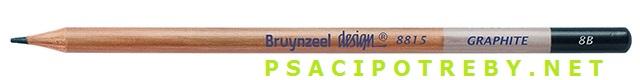 bruynzeel-sakura 8815/8B grafitové tužky Design Graphite 8B, tuha 2,8 mm, jednotlivě