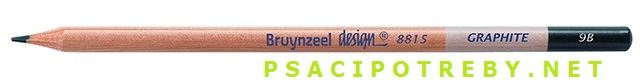 bruynzeel-sakura 8815/9B grafitové tužky Design Graphite 9B, tuha 2,8 mm, jednotlivě