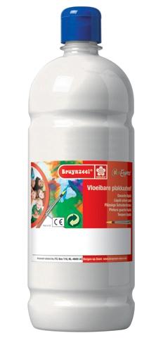 bruynzeel-sakura 9512-101 Temperové plakátové barvy 1000ml připravené k použití a na většinu materiálů bílá