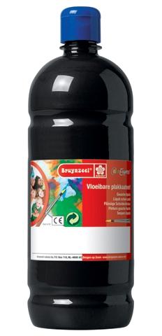 bruynzeel-sakura 9512-110 Temperové plakátové barvy 1000ml připravené k použití a na většinu materiálů černá