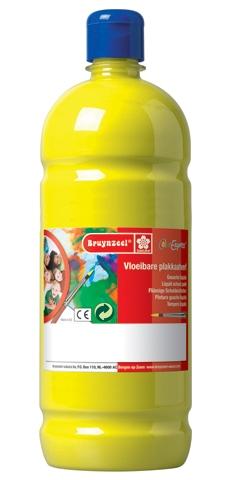 bruynzeel-sakura 9512-125 Temperové plakátové barvy 1000ml připravené k použití a na většinu materiálů citronově žlutá