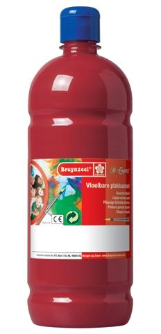 bruynzeel-sakura 9512-138 Temperové plakátové barvy 1000ml připravené k použití a na většinu materiálů červená