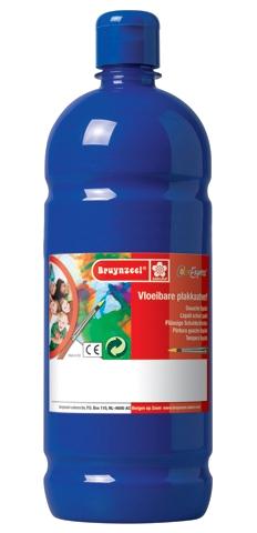 bruynzeel-sakura 9512-150 Temperové plakátové barvy 1000ml připravené k použití a na většinu materiálů tmavě modrá